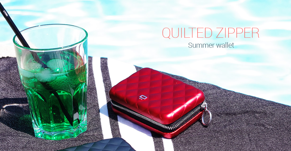 Quilted Zipper lommebok